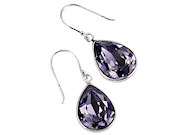 Teardrop Swarovski Tanzanite Colour Crystal Drop Earrings