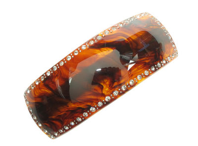 Crystal Rectangular Tort Barrette Hair Clip