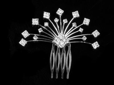 Crystal Diamond Spray Hair Comb