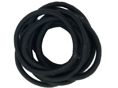 Black Snag-Free Hair Elastics