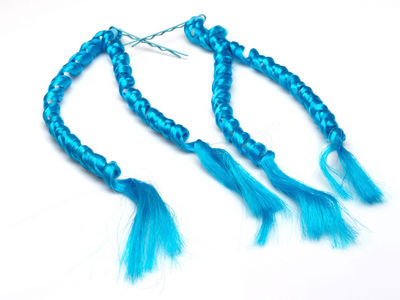 Blue Spiral Hair Extensions