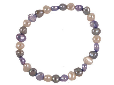Multi Coloured Pearl Stretch Bracelet