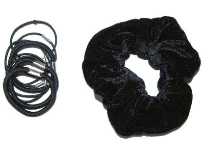 Black Velvet Scrunchie Set