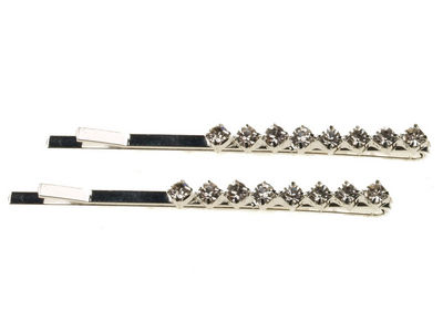 Diamante Crystal Hair Slides