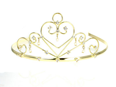 Gold Scroll Heart Tiara