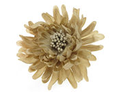 Cafe Au Lait Chrysanthemum Hair Clip