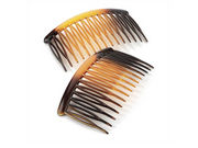 8cm Curved Tort Brown Side Hair Combs
