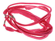 Bright Crinkle Headband Hair Elastics - Pink
