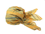 Amber Striped Fitted Headscarf