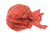Sunset Orange Striped Fitted Headscarf