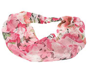 Pink Large Floral Print Headwrap