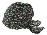 Black Floral Fitted Headscarf