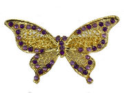 Purple Gilt Butterfly Barrette