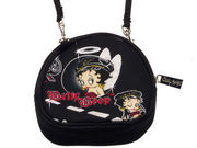 Betty Boop Biker Betty Angel String Purse