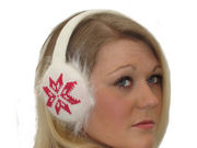 Helga Knitted Earmuffs - Winter White