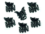 Black Mini Butterfly Hair Claw Clips