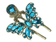 Blue Vintage Butterfly Forked Clamp