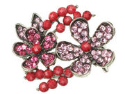 Pink Crystal Flower Side Clamp