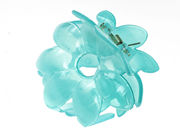 Blue Flower Hair Clamp Clip