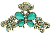 Turquoise Vintage Butterfly Clamp
