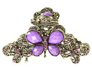 Bright Purple Vintage Butterfly Clamp