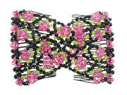 Pink Floral Double Hair Comb