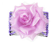 Lilac Rose Double Hair Comb