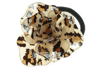 Large Cheetah Print Flower Ponytailer