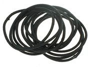 Black Snag-Free Thin Elastics