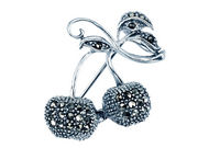 Marcasite Cherries Brooch