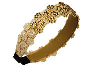 Latte Lace Crystal Hair Band