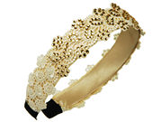 Cream Lace Crystal Hair Band