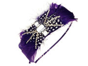 Purple Bijouled Fascinator Band