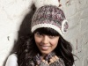 Winter Chunky Knit Nina Hat - Purple Mix
