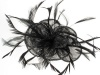 Black Lurex Flower Fascinator
