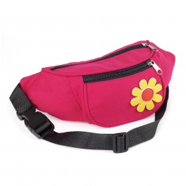 Fuchsia Pink Bum Bag with Flower