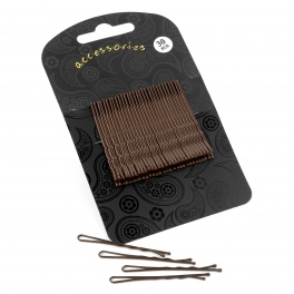 30 Brown 5cm hair grips