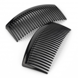 9.5cm Curved Black Side Hair Combs