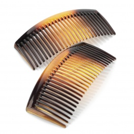 9.5cm Curved Tort Side Hair Combs