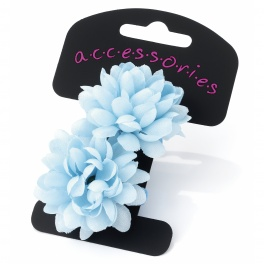 Light Blue Mini Flower Hair Ponios