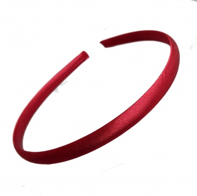 1cm Burgundy Satin Headband