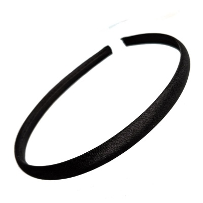 1cm Black Satin Headband