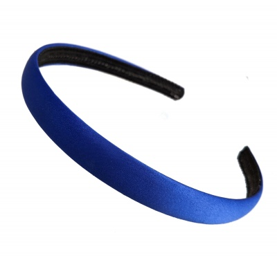 1.5cm Royal Blue Matte Satin Headband