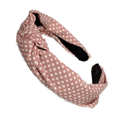 Pink Polka Dot Knot Headband Hair Band