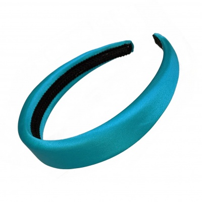 Turquoise Padded Satin Hair Band