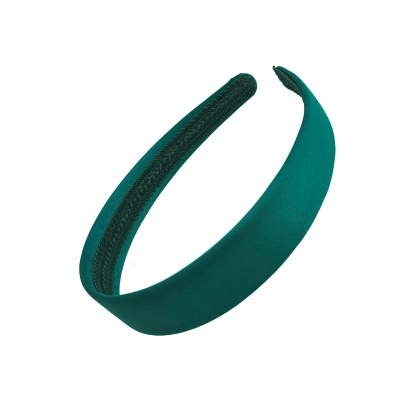2.5cm Bottle Green Matte Satin Headband