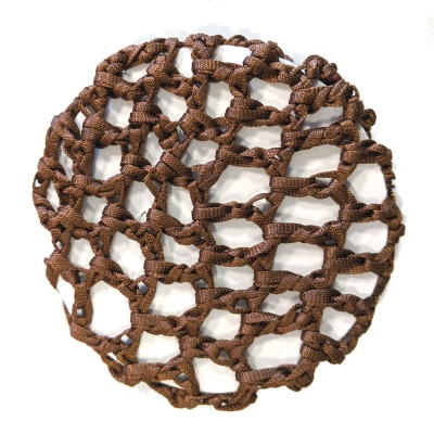 Brown Ribbon Bun Net
