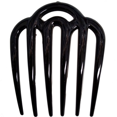 Black Wide Tooth Side Hair Comb