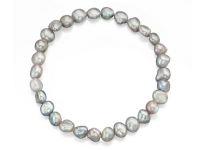 Silver Freshwater Pearl Stretch Bracelet