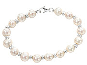 Pearl Bracelet with Textured Beads